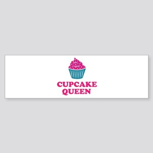 Cupcake baking queen Bumper Sticker